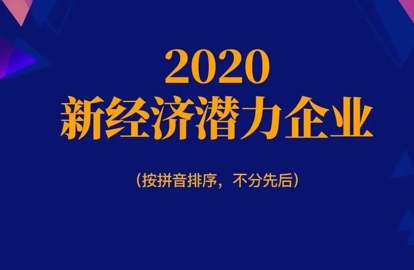 中科闻歌入选2020新经济潜力企业TOP30
